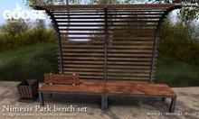 GOOSE - Nimesis park bench set