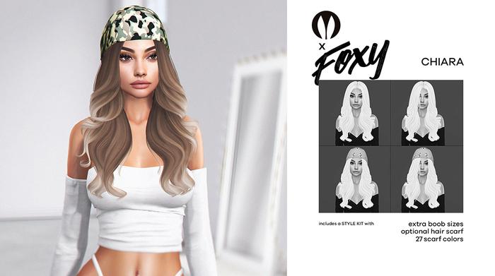 #Foxy - Chiara Hair (Grayscales)