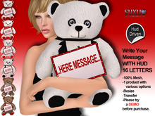 [SuXue Mesh] FATPACK V2 Teddy Bear A Message For You With HUD 16 Letters 1 product with 6 different Teddy Bears Resize