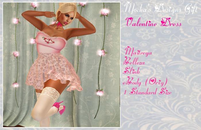 Mocha's Designs Valentine Dress Gift