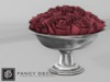 Fancy Decor: Rameau Bowl of Roses (dark red)