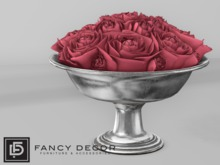 Fancy Decor: Rameau Bowl of Roses (red)