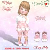 *Cherry Tot* BEBE/TDB Fitted Neko Outfit Pink