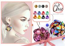 Stay Chic - Da Vinci earrings color BURST