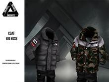 BIG BOSS - Coat The Big Boss #CamouflagedBlack