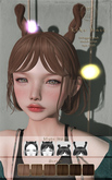 ::C'est la vie !:: Kiki Hair [Brown] / 6colors change HUD / 4 Style HUD
