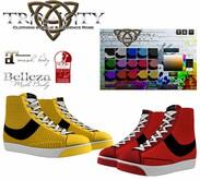 Trinity - SheSneaks Hi-Top Sneakers w/ Hud (Maitreya/Belleza/Slink)