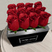 Box of dozen red roses   with poem 2