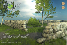 Dry stone wall  - modular -  BXD