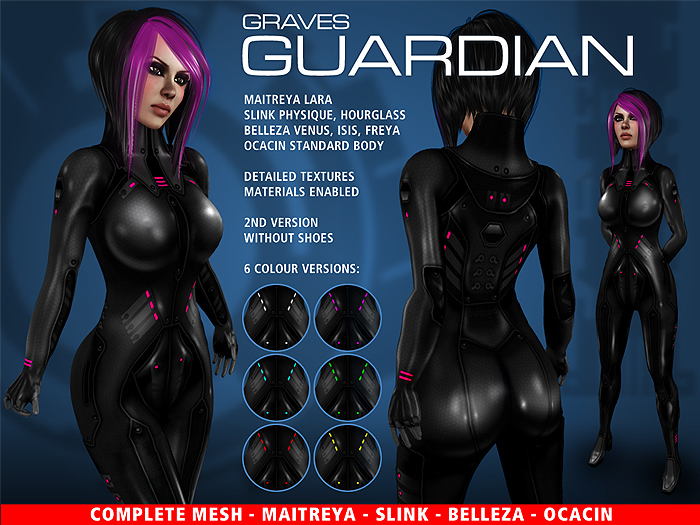 GRAVES Guardian - Leather Latex Mesh Suit, Jumpsuit, Plugsuit, Catsuit, Cyberpunk or Fetish Style
