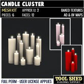Tool Shed - Candle Cluster Mesh Kit
