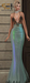 Son!a-Edge NY New York Dress Sequin Mint Fitted-rigged Mesh
