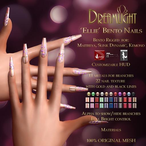 "[Dreamlight] ""Ellie"" Bento Nails"