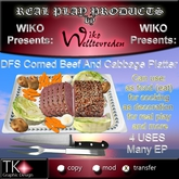 WIKO presents DFS Corned Beef And Cabbage Platter * 4 USES * Many EP * Can eat, use for cooking, decoration ...