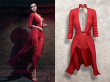 ISON - Safiya Dress - red / ++bento animated tail++
