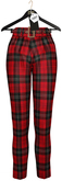 OSMIA - Erika.Cropped Pants - Tartan Red