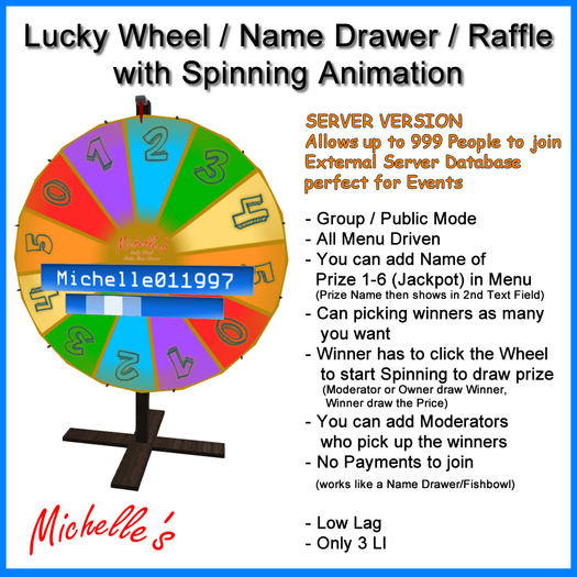 Lucky Wheel - Random Name Drawer (Raffle) Event Version