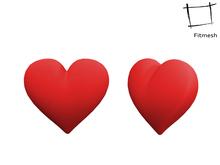 Full Perm Mesh Heart Shape