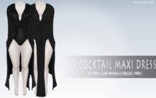 iS Wrap Cocktail Maxi Dress BLACK