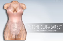 iS Rhinstone Clubwear Set SOLID BLUSH
