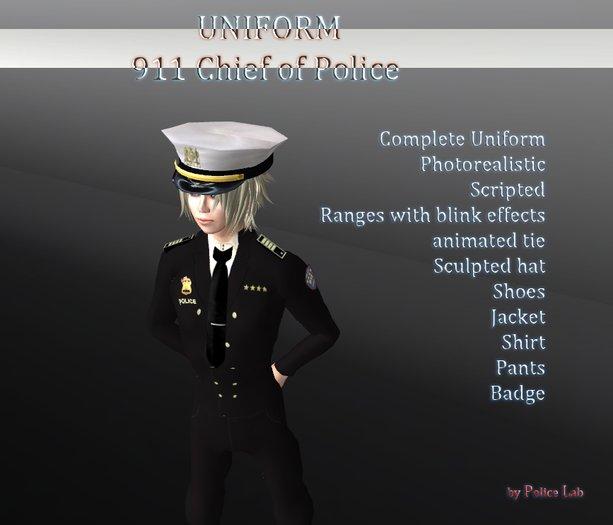 Chief of Police 911 Uniform