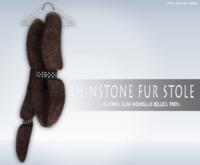 iS Rhinstone Fur Stole CHOCO