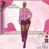 EC Heart Sweater Dress Pink