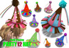 [ FULL PERM ] 12 Party Hat
