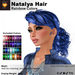 A&A Natalya Hair Rainbow Colors V2, lush curly mesh ponytail style