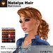 A&A Natalya Hair Red Colors V2, lush curly mesh ponytail style
