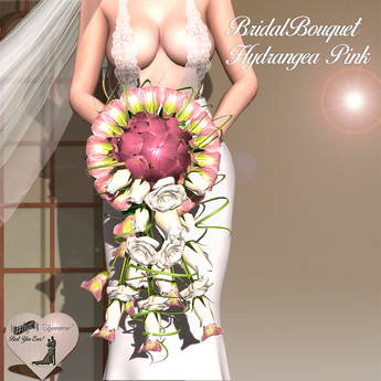 Second Life Marketplace Bye Bridal Bouquet Hydrangea Pink Demo