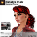 A&A Natalya Hair Vampire Colors V2, lush curly mesh ponytail style