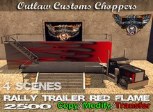 Route 84 Customs - Mesh MC Rally Trailer Red Flame
