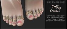 Candy Crunchers -  Baby Girl - Toe Rings - Maitreya High Feet