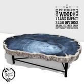 Schadenfreude Night Petrified Wood Coffee Table