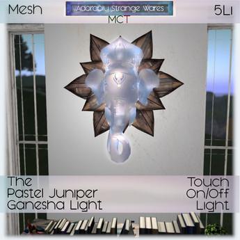 ~ASW~ The Pastel Juniper Ganesha Light