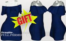 .Fragile. Texture Gift for  WC1072 Cold Shoulder Dress