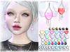 [ bubble ] Winged Heart Earrings