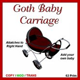 ~~~~  *~CLEARANCE~*~~~~            Miranda's Adult Carriage - Goth