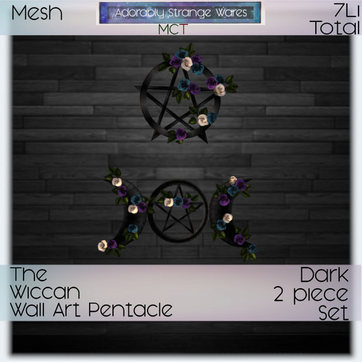~ASW~ The Wiccan Wall Art Pentacle Dark