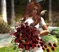 CJ Valentine Rose Bouquet Red + Balloon