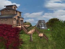 633M NEW! RENTAL: Treehouse home with  waterfall animated in a dome <800lpw