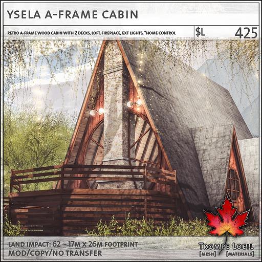 Trompe Loeil - Ysela A-Frame Cabin [mesh]