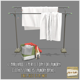 {-MK-} Perfect day for laundry!_Clothes stand, basket