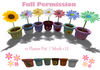 [ FULL PERM ] Garden Flower 12 pot