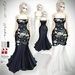 ♥ .::GH::.♥ Gabriella Navy Peony Sequined Gown SE