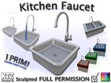 Sculpted Kitchen Faucet // 1 prim //  FULL PERMISSION !