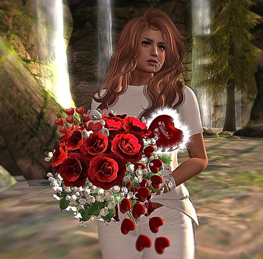 CJ Valentine Rose Bouquet + Fur Heart - copy
