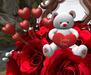 Cj valentine rose bouquet   fur heart 05