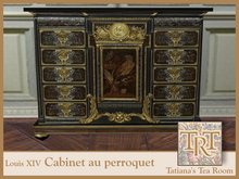 TTR-Louis XIV Cabinet au perroquet